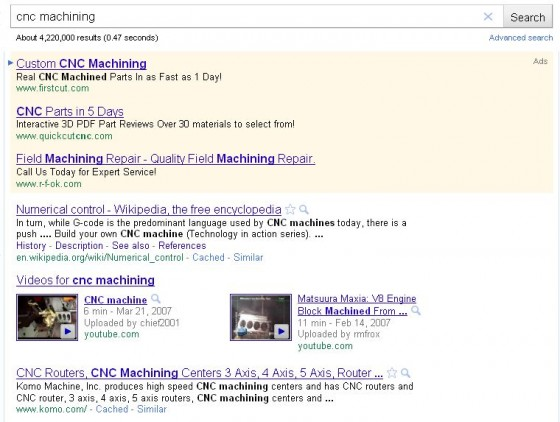CNC Machining Video Search Results