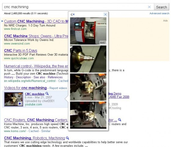 Google search video preview example.
