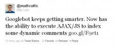 Matt Cutts Twitter Announcement