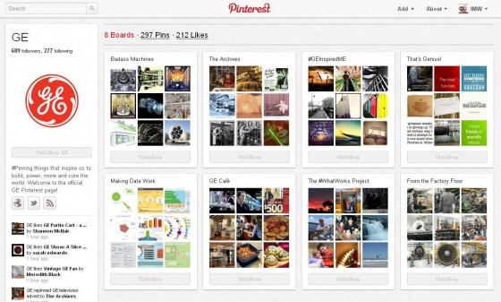 GE pinterest board