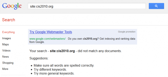 Directory deindexed by Google